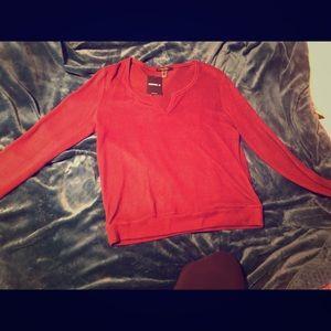 Long maroon shirt